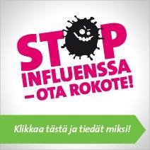 Iso Banneri: Stop influenssa - ota rokote!