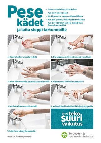 Pese kädet ja laita stoppi tartunnoille.